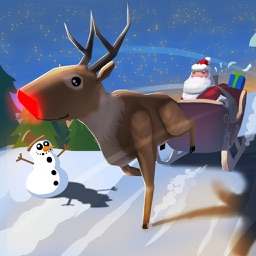 A Santa Claus: Christmas Gifts Free - 3D Sleigh Driving Game with Cartoon Graphics for Everyone