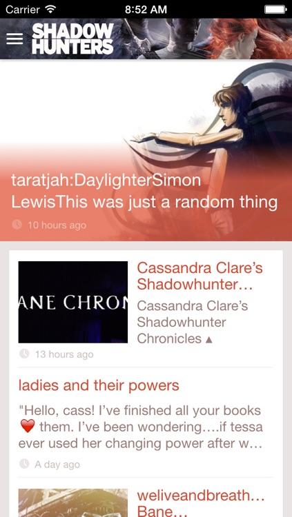 Cassandra Clare's Shadowhunters