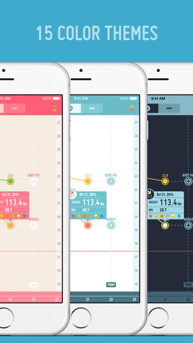 PopWeight - 体重管理が簡単にできるダイエット記録アプリ ScreenShot2