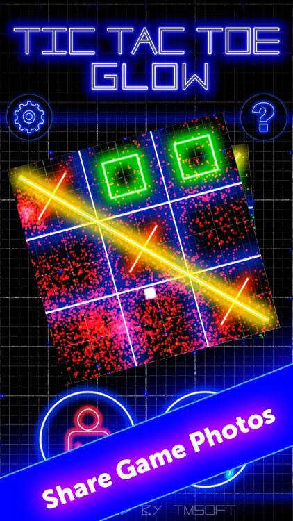 Tic Tac Toe Glow by TMSOFT screenshot-3