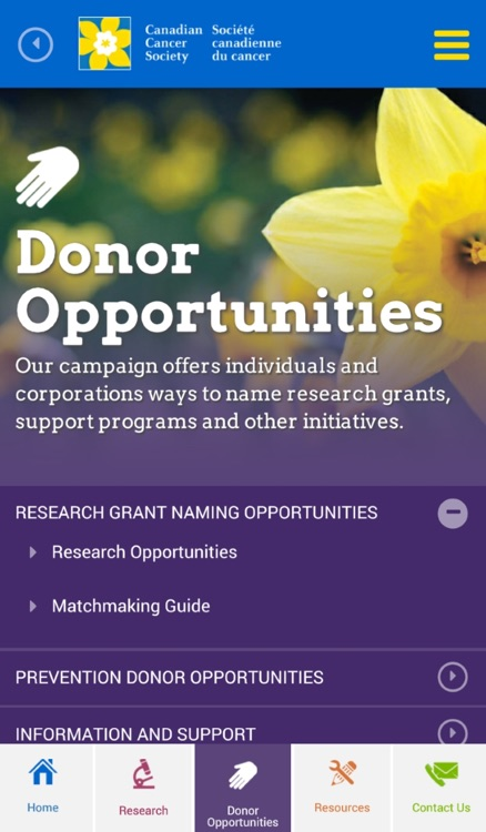 Canadian Cancer Campaign App