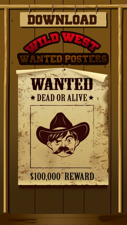 Wild West Wanted Poster Maker Pro - Make Your Own Wild West Outlaw Photo Mug Shots screenshot-3