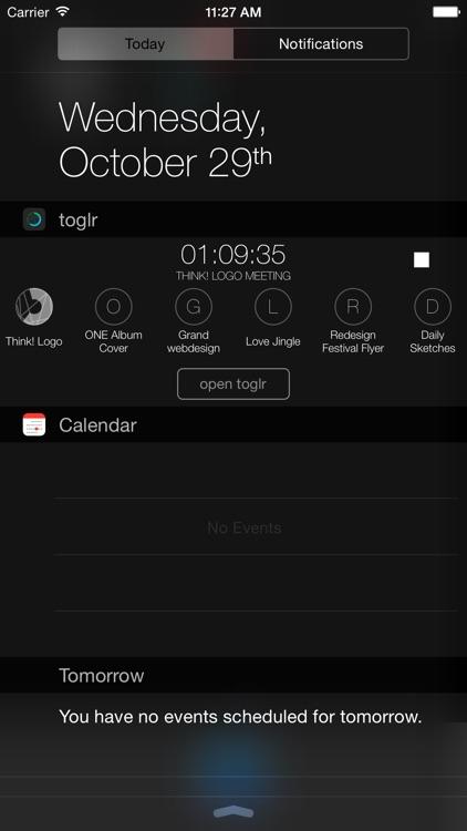 toglr - simple time logger screenshot-4