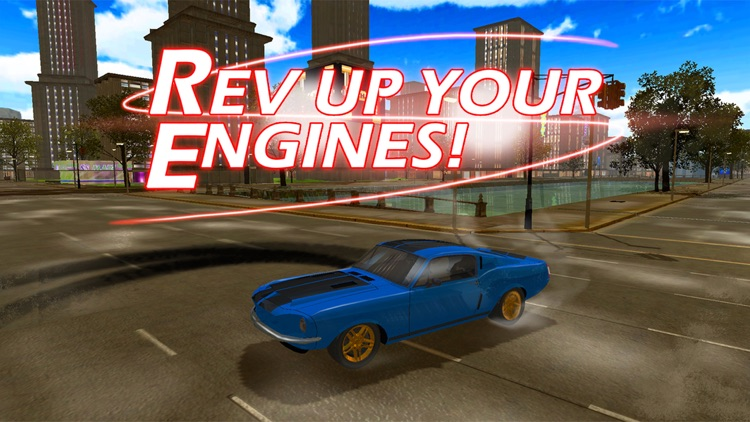 3D Muscle Car V8 Parking: Classic Car City Racing Free Game screenshot-0