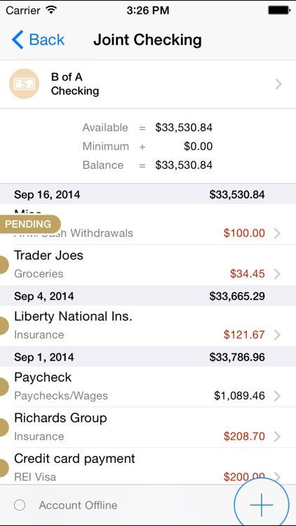 Banktivity – iPhone screenshot-3