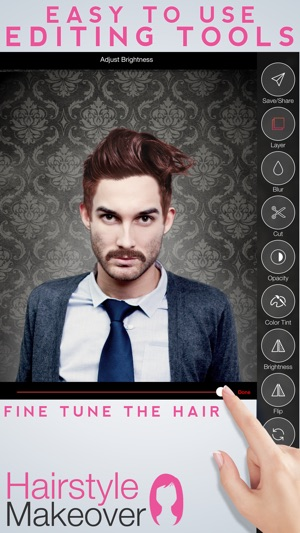 Hairstyle Makeover Premium - Use your camera to try on a new hairstyle Screenshot