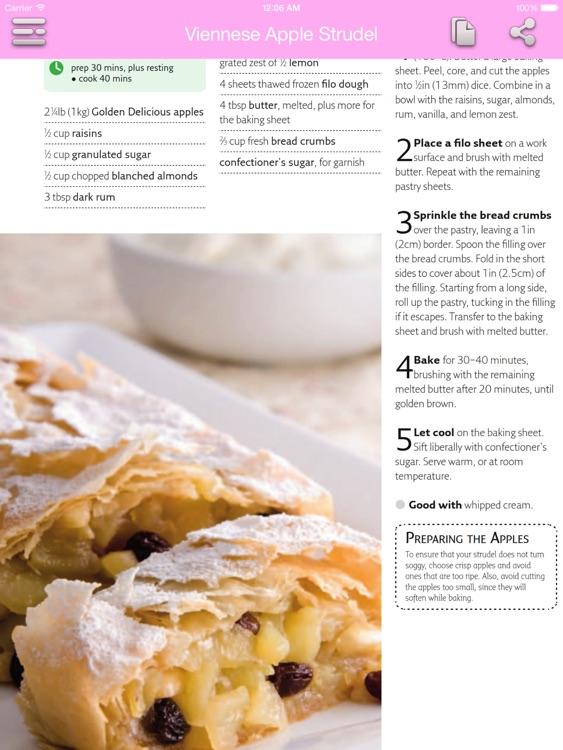 Dessert & Cake Recipes for iPad screenshot-4