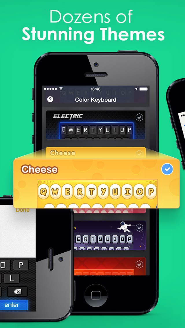 Color Keyboard Themes Pro - new keyboard design & backgrounds for iPhone, iPad, iPod iphone images