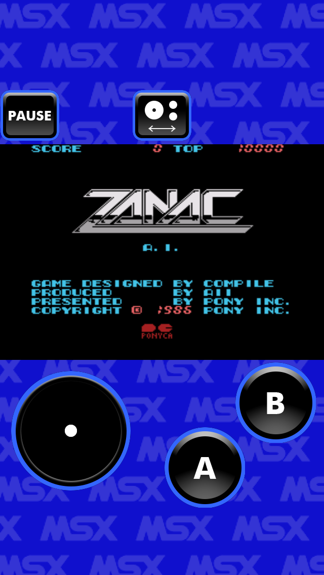 Screenshot from ZANAC MSX