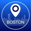 ボストンオフライン地図+シティガイドナビゲーター、アトラクションとトランスポート