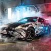 3D高速道路ハンター車撮影ゲーム-無料クリスマスエディション