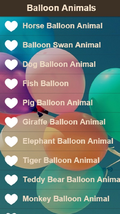 Balloon Animal Instructions Learn How To Make Balloon Animals By