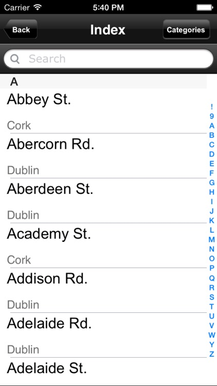Ireland. Road map screenshot-4