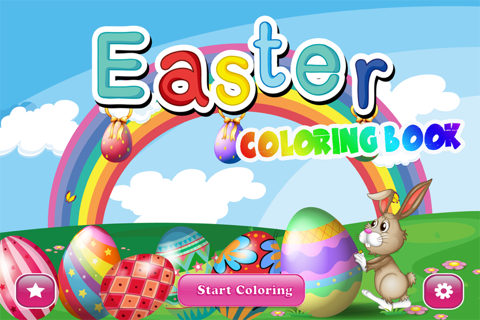 Easter Coloring Book - Spring-time Art fun for Preschoolers: Eggs , Chicks and more Pages screenshot 1