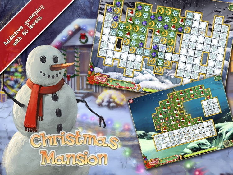 Christmas Mansion HD Free - Prepare your house for holiday in a free matching game