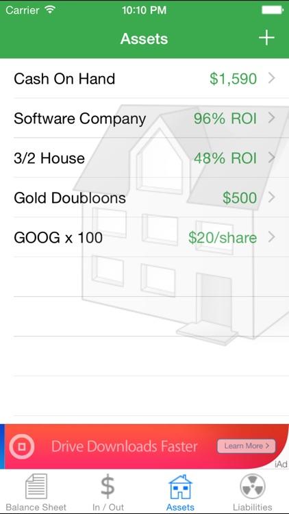Cashflow Balance Sheet screenshot-3