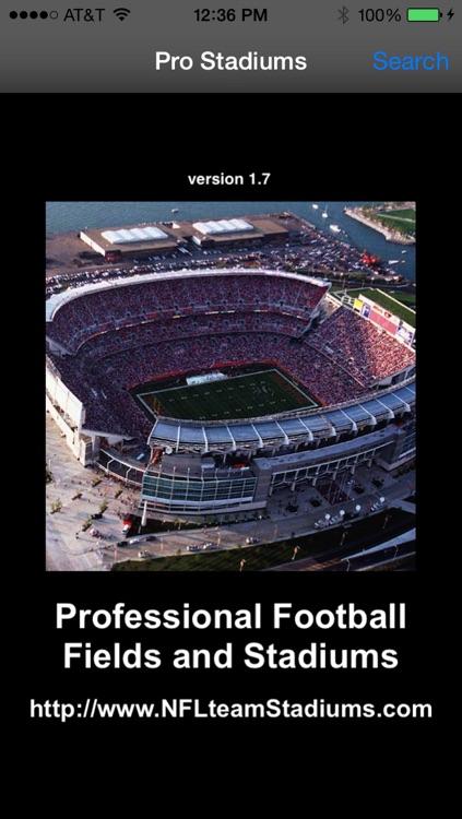 Pro Team Stadiums Football AFC NFC