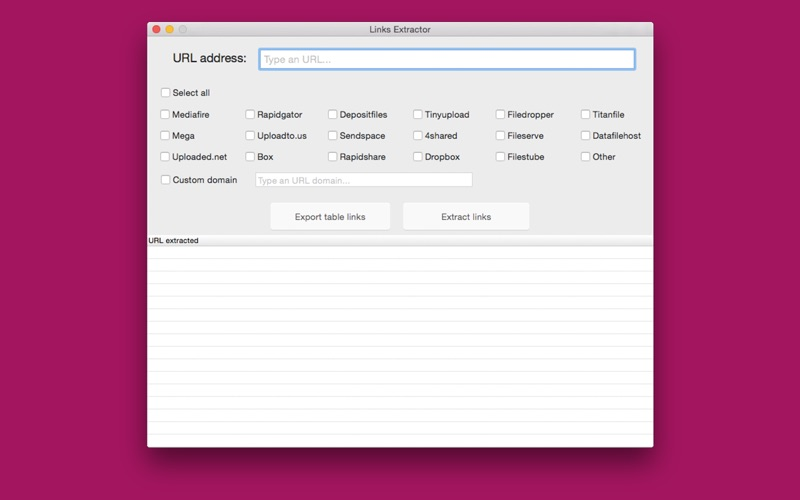 Links Extractor for Mac