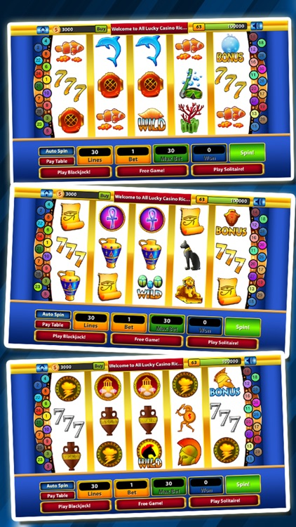 `Lucky Gold Rich Las Vegas Casino Coin Jackpot 777 Slots - Slot Machine with Blackjack, Solitaire, Bonus Prize Wheel screenshot-4