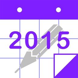 PolyCalendar 2015 - Schedule and Handwriting -