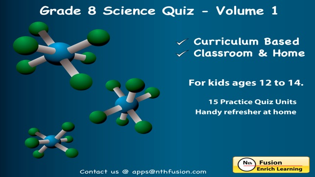 8th Grade Science Quiz # 1 : Practice Worksheets for home use and in ...