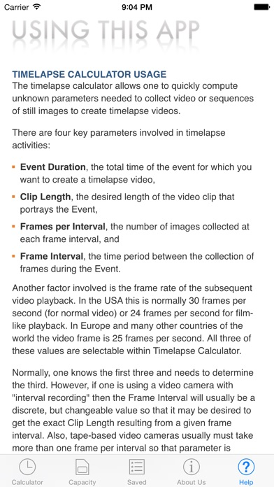 Timelapse Calculator - by CLamCam Video - Photography Category - 12 Reviews  - AppGrooves: Discover Best iPhone & Android Apps & Games
