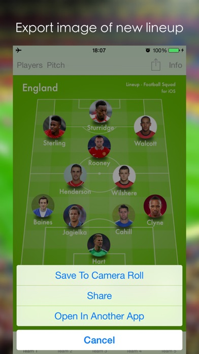Lineup - Football Squad screenshot1