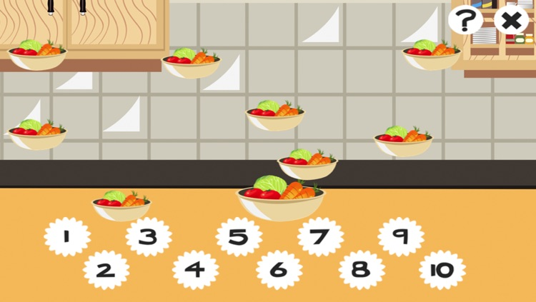 A Kitchen Counting Game for Children: Learning to count with Cooking