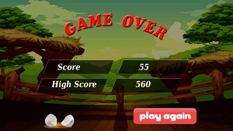 Catch the Eggs-simple and fun chicken bird dropping eggs and catching arcade game. screenshot-3