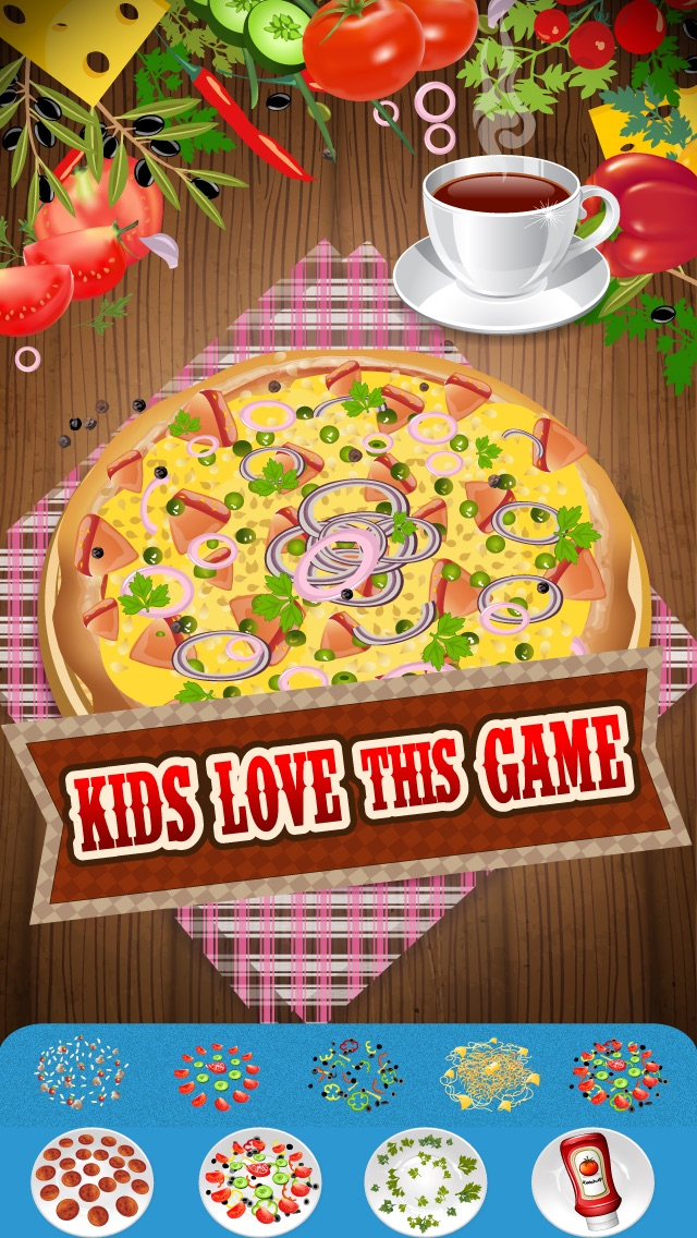 Hello My Delicious Pizza Diner Dress Up Maker Game - Love To Bake Virtual Kitchen Fun For Kids Edition - Free App Screenshot on iOS