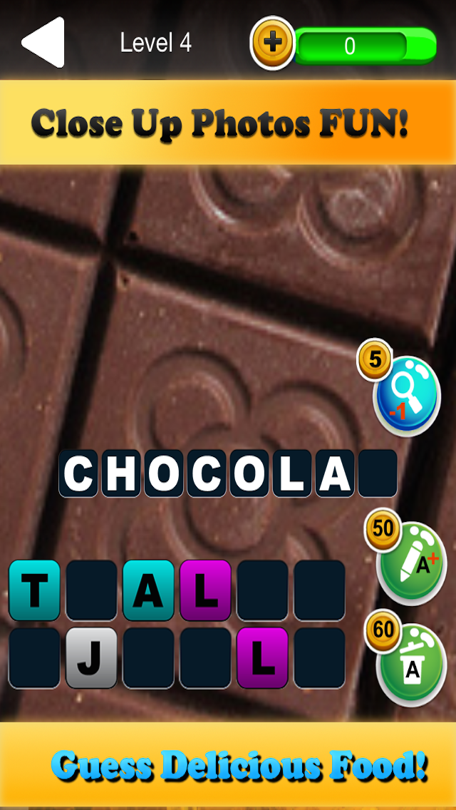 Quiz Pic Food - Trivia Game Where You Guess Zoomed In Photos of Yummy Snacks screenshot one