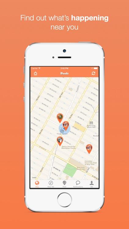 Poofr - Self Destructive Location Based Social Network