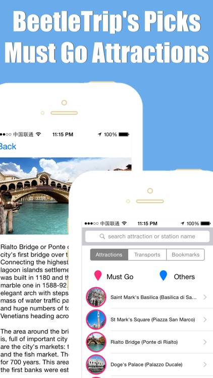 Venice travel guide with offline map and Italia metro transit by BeetleTrip screenshot-4