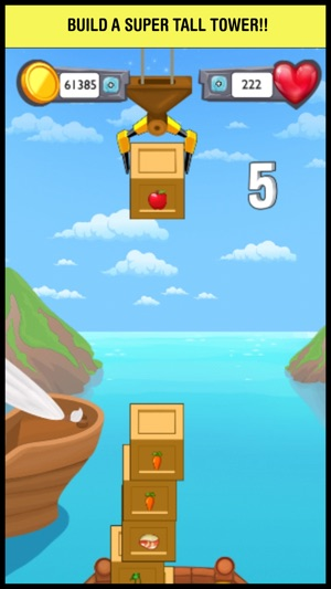 A Sky Block Tower Pop Game - don't make them boxes fall! on the App