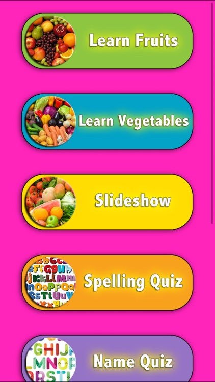 Learn Fruits and Vegetables in English screenshot-3