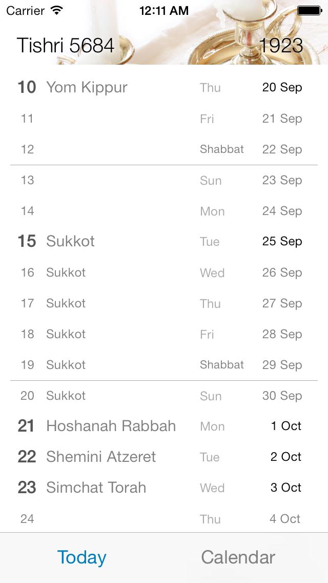 Lunary - Hebrew Calendar på PC