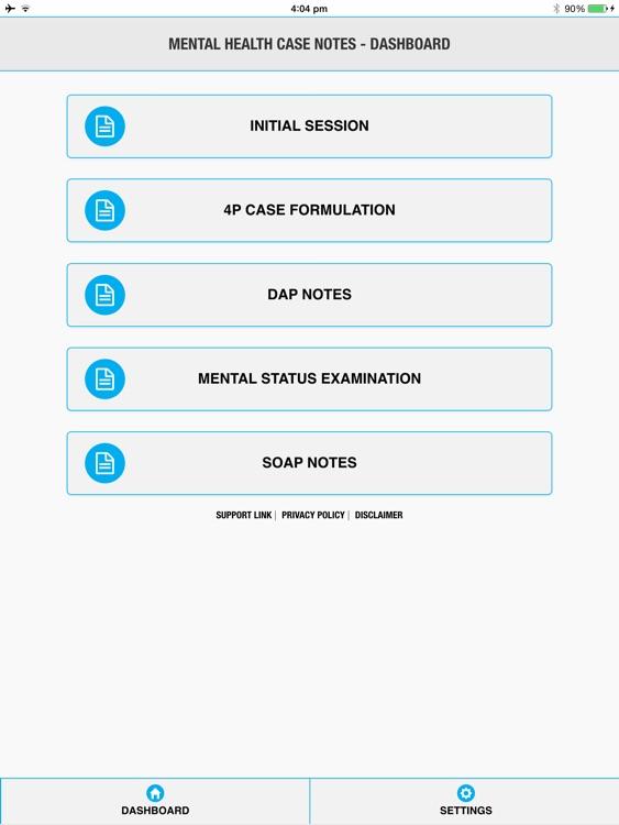 Mental Health Case Notes screenshot-0