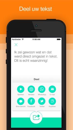 actieve stem spraak naar tekst in de app store. Black Bedroom Furniture Sets. Home Design Ideas