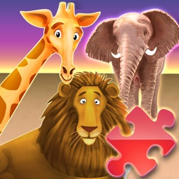 Animal Zoo Puzzles - My First Words