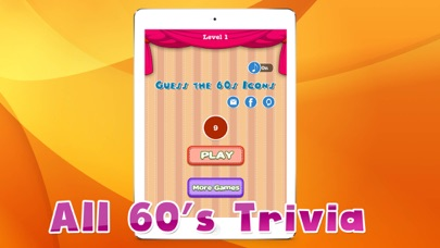 Trivia For 60's Stars - Awesome Guessing Game For Trivia Fans screenshot one