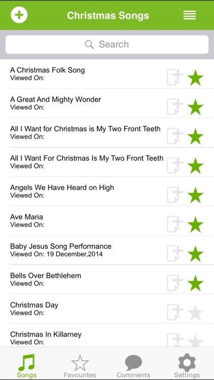 Christmas Songs.