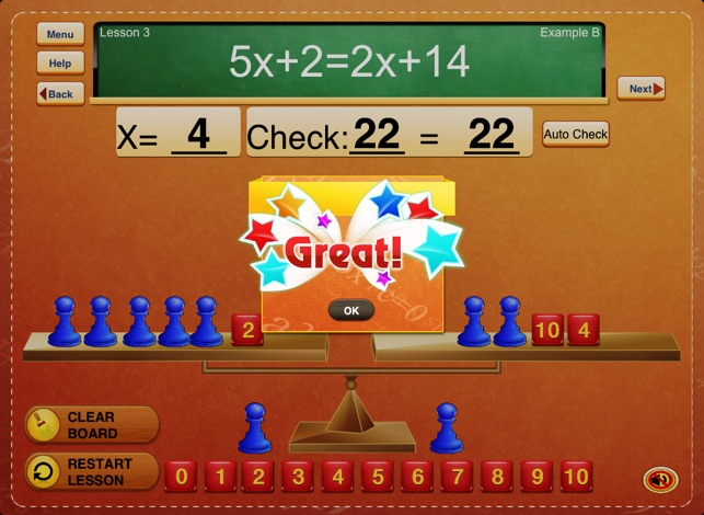The Fun Way To Learn Algebra Free Handson Equations 1 Lite On. The Fun Way To Learn Algebra Free Handson Equations 1 Lite On App Store. Worksheet. Hands On Equations Worksheet At Clickcart.co