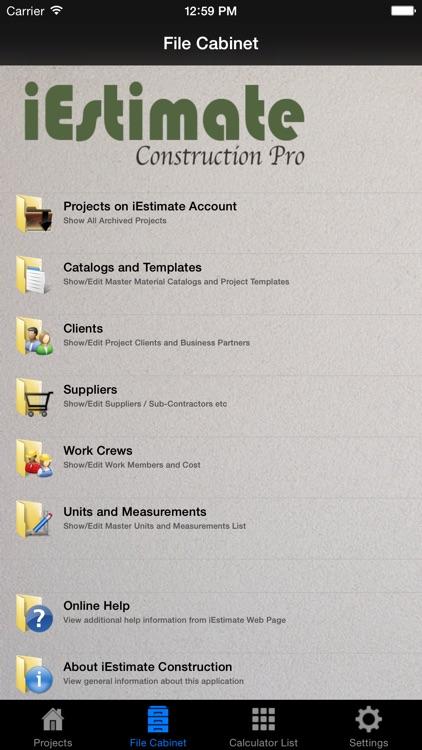 iEstimate Construction Pro