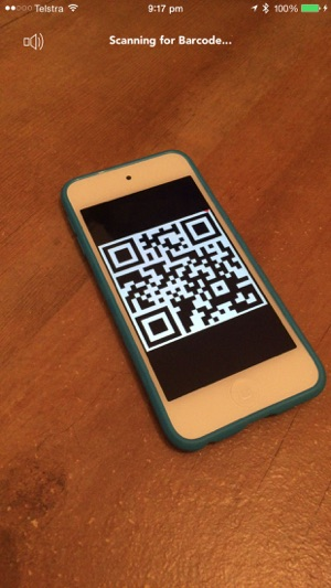 A QR Barcode Scanner - Scan bar-code id tags Screenshot