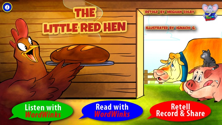 Little Red Hen with WordWinks and Retell, Record & Share