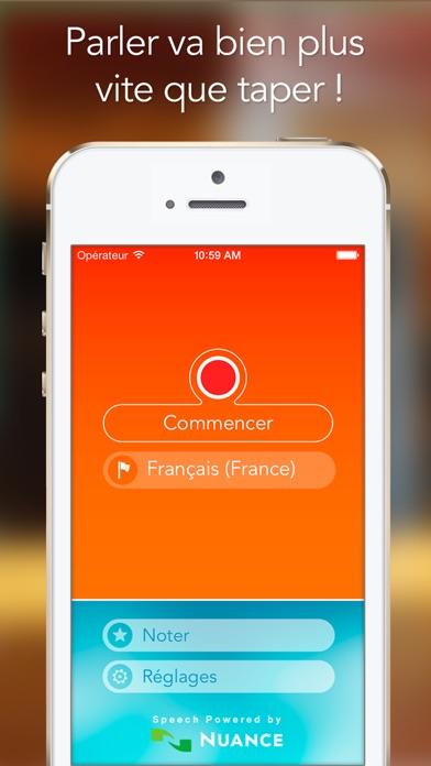 Screenshot #1 pour Reconnaisseur de Parole : Convertissez votre voix en texte grâce à cette application de dictée.