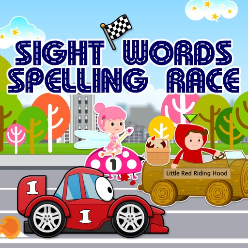 Sight Words Spelling Race: Hot Cars, Fast Fairies & Fairy Tale Dash HD