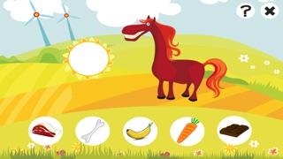 Aktiv-Spiel Für Kinder Über den Bauernhof - Tiere Füttern Lernen Wie Kuh, Hund, Schaf, Pferd, Katze, KaninchenScreenshot von 5