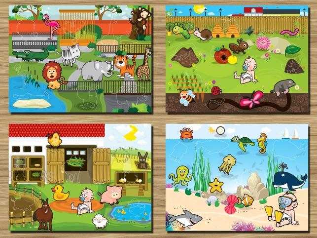 Animals juego rompecabezas educativo para ni os peque os - Puzzles para ninos pequenos ...