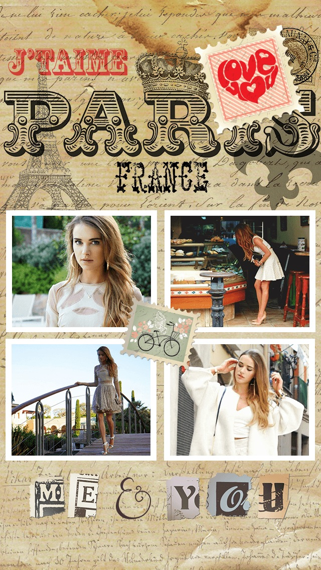 Paris Cam - The Chic arty love Foto Collage Kamera for a beautiful scrapbook selfies pic in France-4